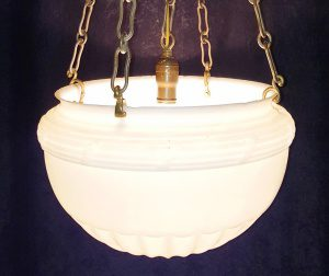 dome light chandelier from the 1930s