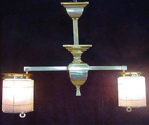 Two arm mission chandelier