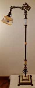 1920s five piece marble floor lamp