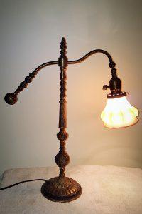 1940s repurposed antique artwork lamp
