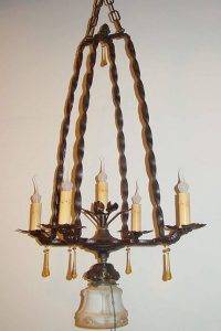 chandelier made from an aquarium stand
