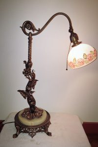 repurposed art nouveau table lamp