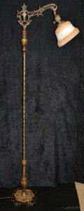 black marble bridge floor lamp