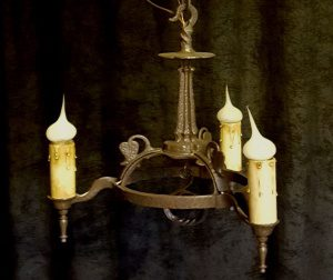 arts and crafts candelabra chandelier