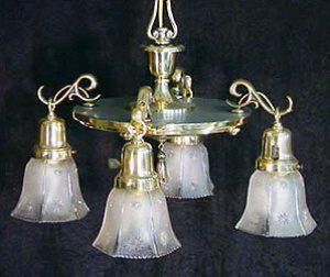 beardslee four armed colonial revival chandelier