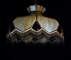 leaded glass colonial revival chandelier