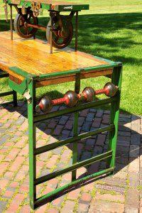 fairbanks railroad luggage conversion cart desk