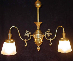 victorian gas light fixture