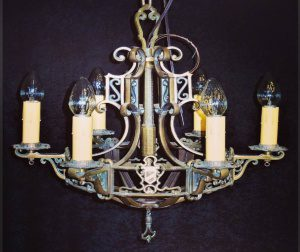 1927 glen mcfadden bronze chandelier