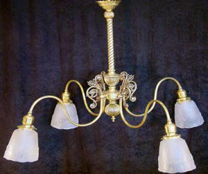 ornate brass victorian chandelier