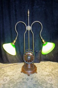 repurposed 1940s pedal car table lamp