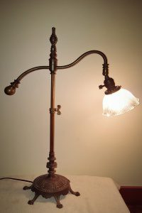 rembrandt based antique table lamp