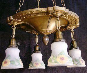 colonial revival shower chandelier
