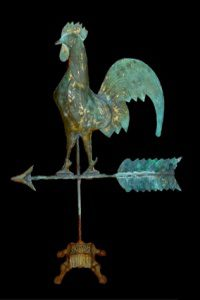 Weather vane with creative stand